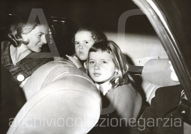 ingrid bergman con figli robertino isotta e isabella 1959